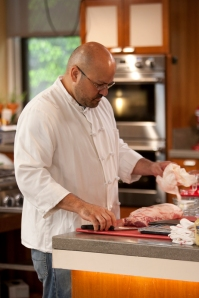 David Pazmino worked at ATK for years and now teaches cooking -- he came back to help us out during filming.