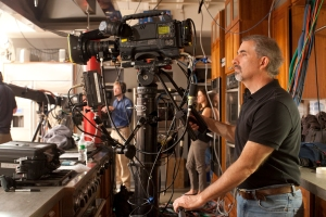 "Stephen handles the ""wide shot"" camera, the one I speak to during filming."