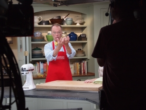 Another on-set lecture about the science of food.