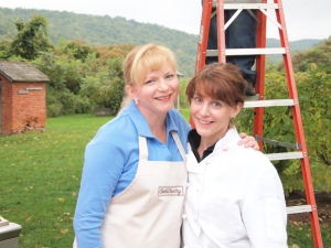 Bridget and Lynn, who helped run the back kitchen this year.